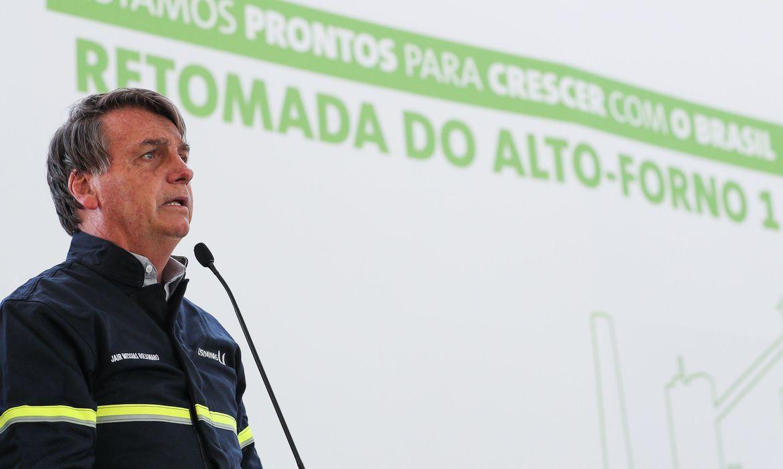 Presidente Jair Bolsonaro discursa em Ipatinga (Foto: Marcos Correa/PR)