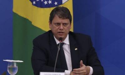O ministro da Infraestrutura, Tarcísio Gomes de Freitas. Foto: Marcello Casal Jr/Agência Brasil