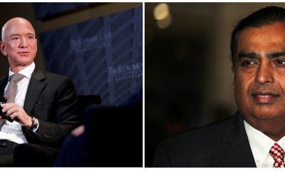 Jeff Bezos e Mukesh Ambani/Reuters
