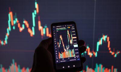 ações: imagem ilustrativa com gráficos de ações