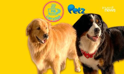 dois cães (um preto e outro caramelo) chamados Rocky e Maia