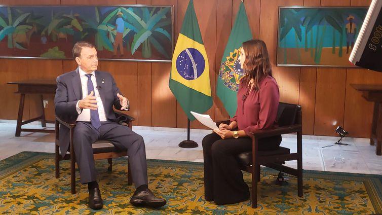 Entrevista do Presidente Jair Bolsonaro - Divulgação/Empresa Brasil de Comunicação