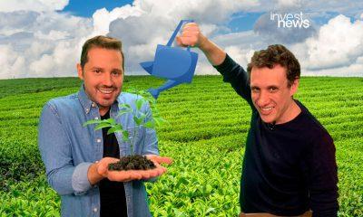 dony de nuccio e samy dana regando uma planta