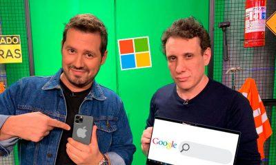 dony e samy com logotipos da apple, microsoft e google