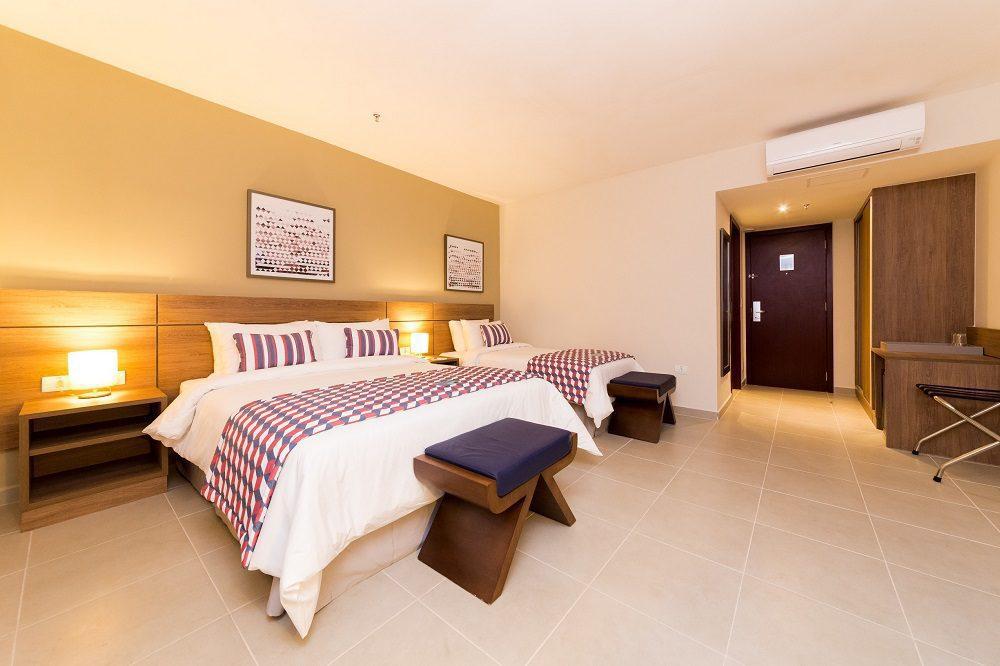 Foto de quarto de hotel em matéria sobre o setor de turismo