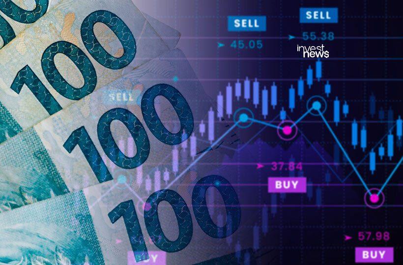 Ilustração de dinheiro e gráfico para o tema de pullback