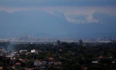 Vista de obras na região de Itaboraí